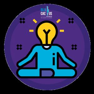 BluCactus - Man sitting having an idea and meditating