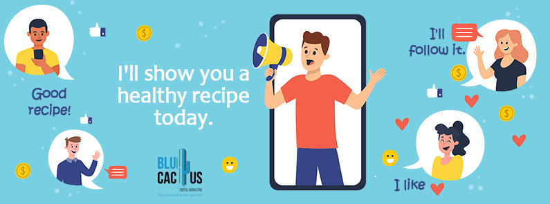 BluCactus - Influencer sharing a healthy recipe