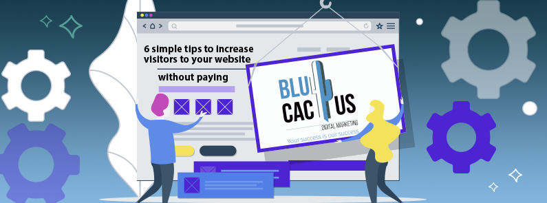 BluCactus - How to increase visitors to your website?-title