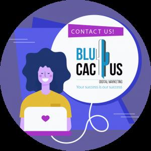 BluCactus - girl in computer