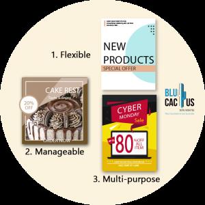 Blucactus - Why brochure advertisement is still useful? - three brochures