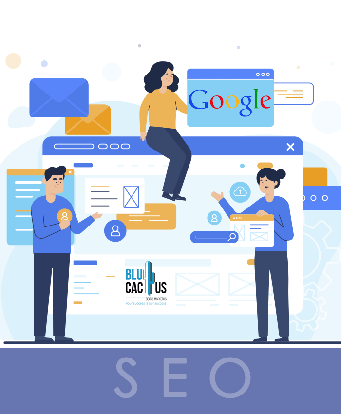 BluCactus 3 SEO Specialists working on a Webpage to increase its ranking