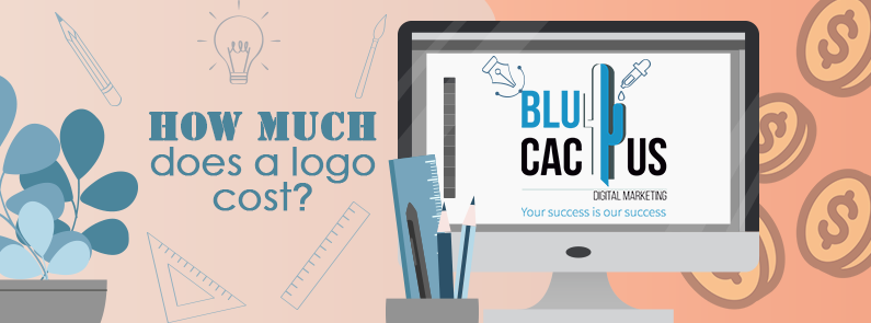 BluCactus / how much does a logo cost? / title