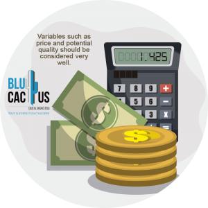 BluCactus / how much does a logo cost? / calculator