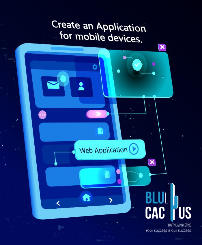 BluCactus - Futuristic mobile app