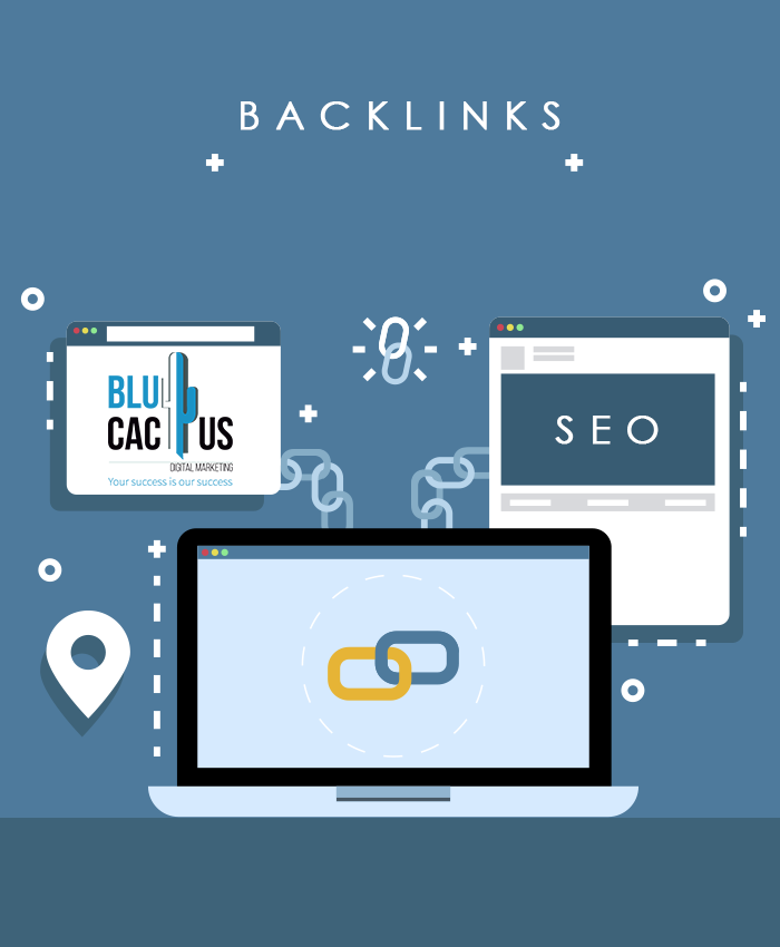 BluCactus - 2 Webpages, each with a Backlink to the main web page
