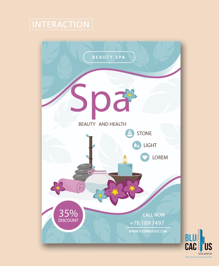 BluCactus - Example of a SPA Beauty and Health Brochure Design