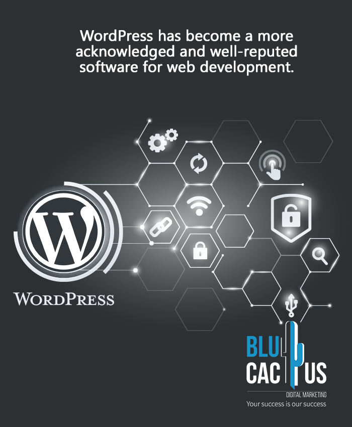 BluCactus - Shiny WordPress Logo and symbols