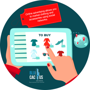 BluCactus - What is Fashion Marketing? - girl with her hands looking in an ipad a red dress