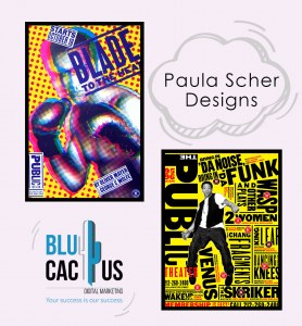 BluCactus - paula scher design they are two posters