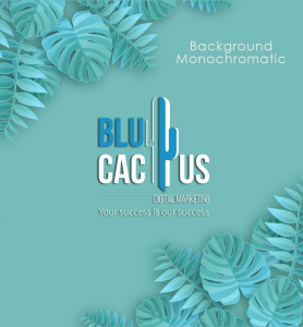 BluCactus - BluCactus logo with a monochromatic background
