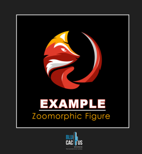 BluCactus - zoomorphic fox figure as an example