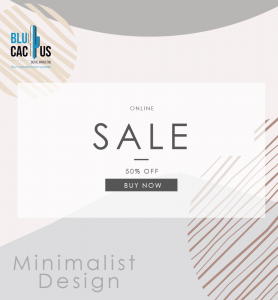 BluCactus - graphic design Trends in 2020 - image with a sale icon with light colors