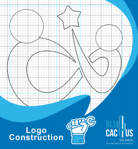 BluCactus - logo construction as an example