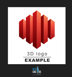 BluCactus - 3d logo design example