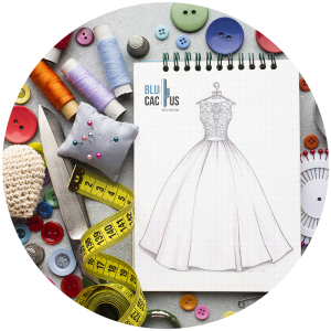 BluCactus - Marketing strategies for fashion brands - notebook with a dress on it