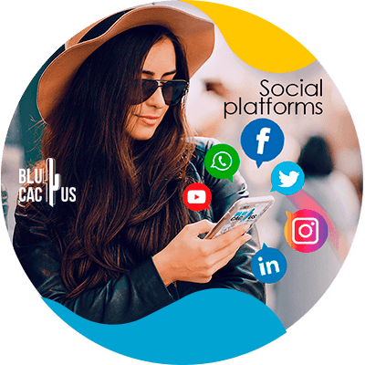 BluCactus - Marketing strategies for fashion brands - girl holding her phone with the social media open