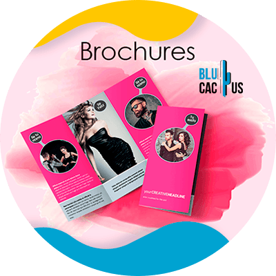 BluCactus - Marketing strategies for fashion brands - pink brochure with models on it