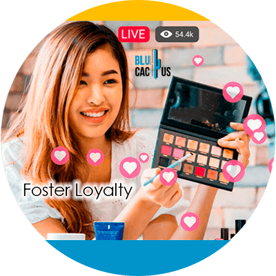 BluCactus - Marketing strategies for fashion brands - girl doing her makeup with a palette in his hand