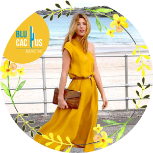 BluCactus - fashion trends for 2020 - pretty yellow dress with a beach view