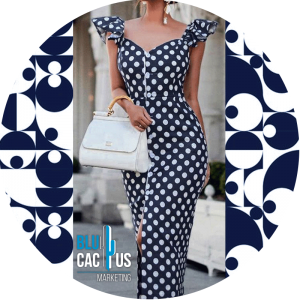BluCactus - fashion trends for 2020 - navy polka dot dress