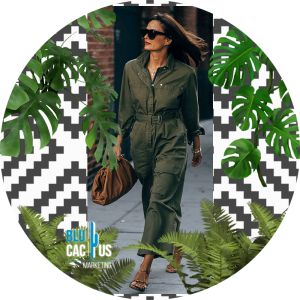 BluCactus - fashion trends for 2020 - tracksuit color military green with sunglasess