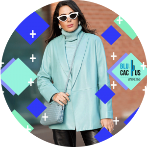 BluCactus - fashion trends for 2020 - huge green coat with white sunglasess
