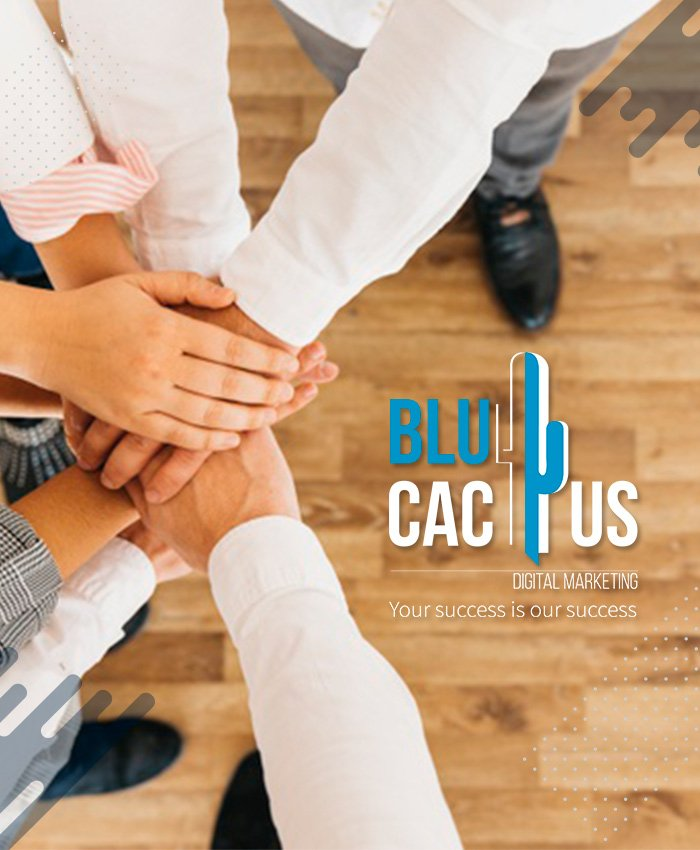 BluCactus - 5 hands united together for partnership