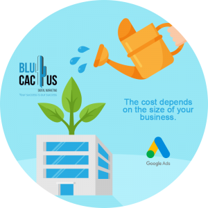 BluCactus - How much does a Google Adwords campaign cost - business giving a plant water