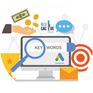 BluCactus - How much does a Google Adwords campaign cost - computer with a zoom on it