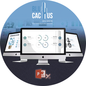 BluCactus - power point computer with statistics
