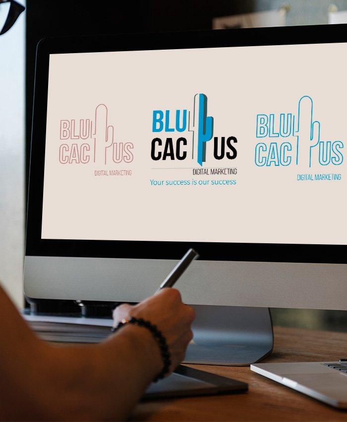 BluCactus - Logo Design Process - 3 Design Proposals
