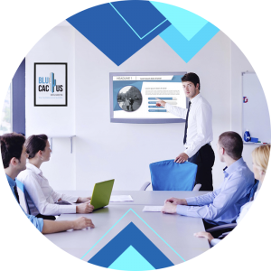 BluCactus - Types of PowerPoint Presentations - men giving a meeting to other people