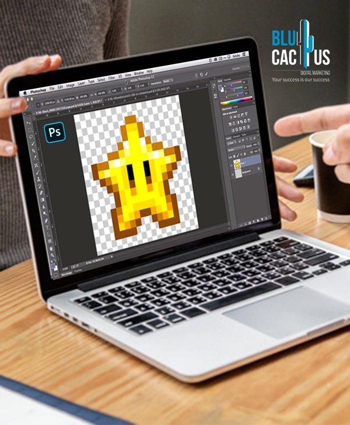 BluCactus - Logo before vectorizing