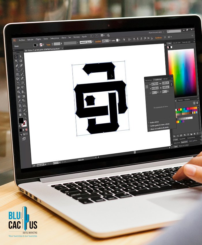 BluCactus - Vectorized Logo