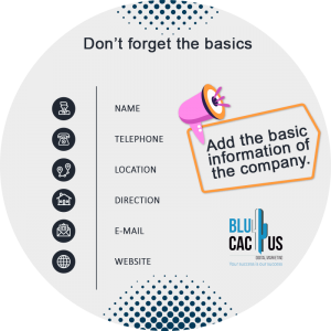 BluCactus - What is an Efficient and Impact Brochure? - contact us infromation