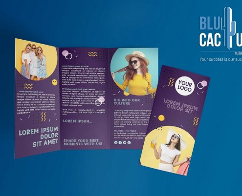 BluCactus Fashion Trifold
