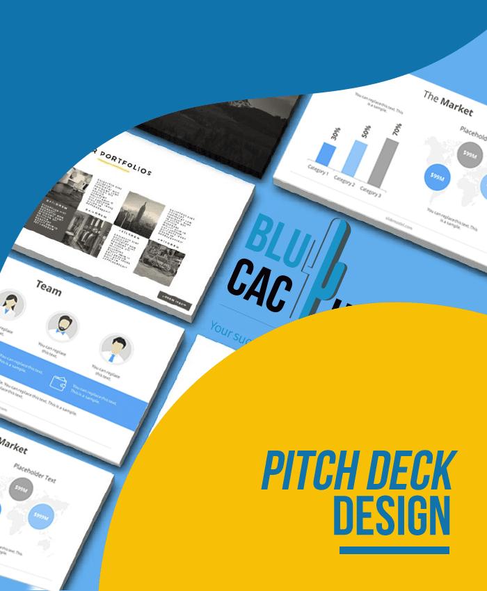 BluCactus - Pitch Deck Design
