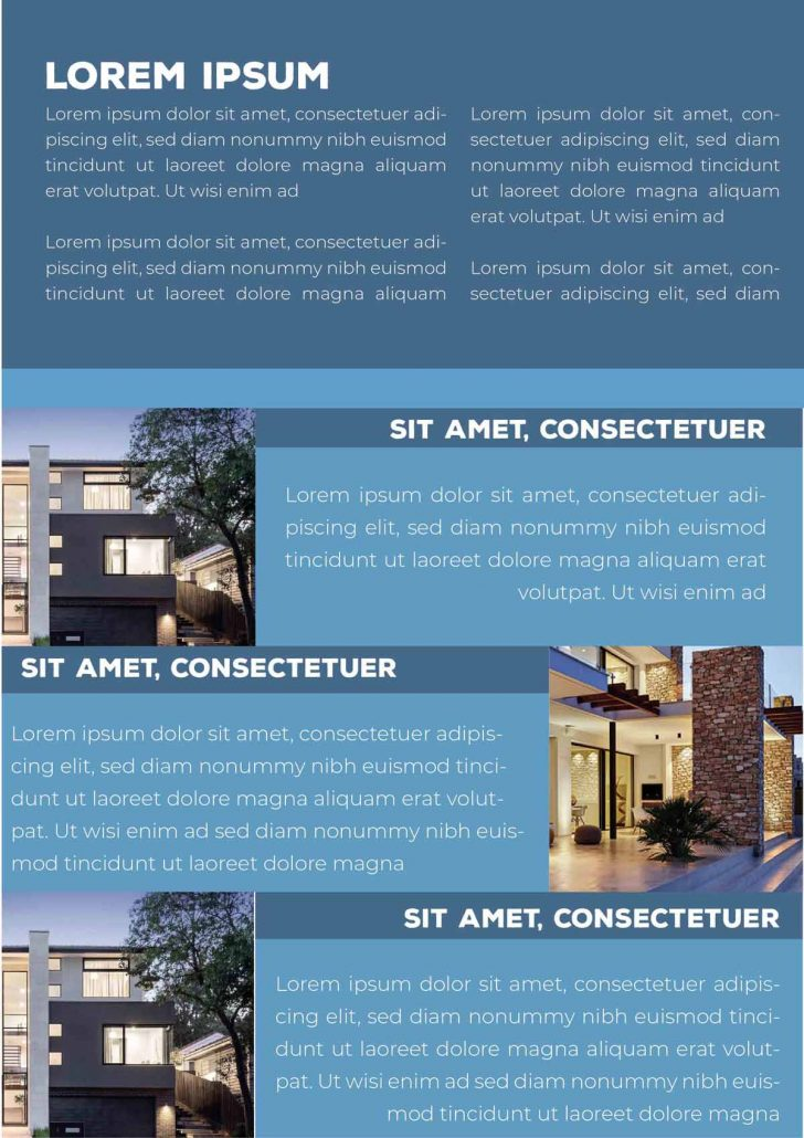 Real Estate Brochure first page