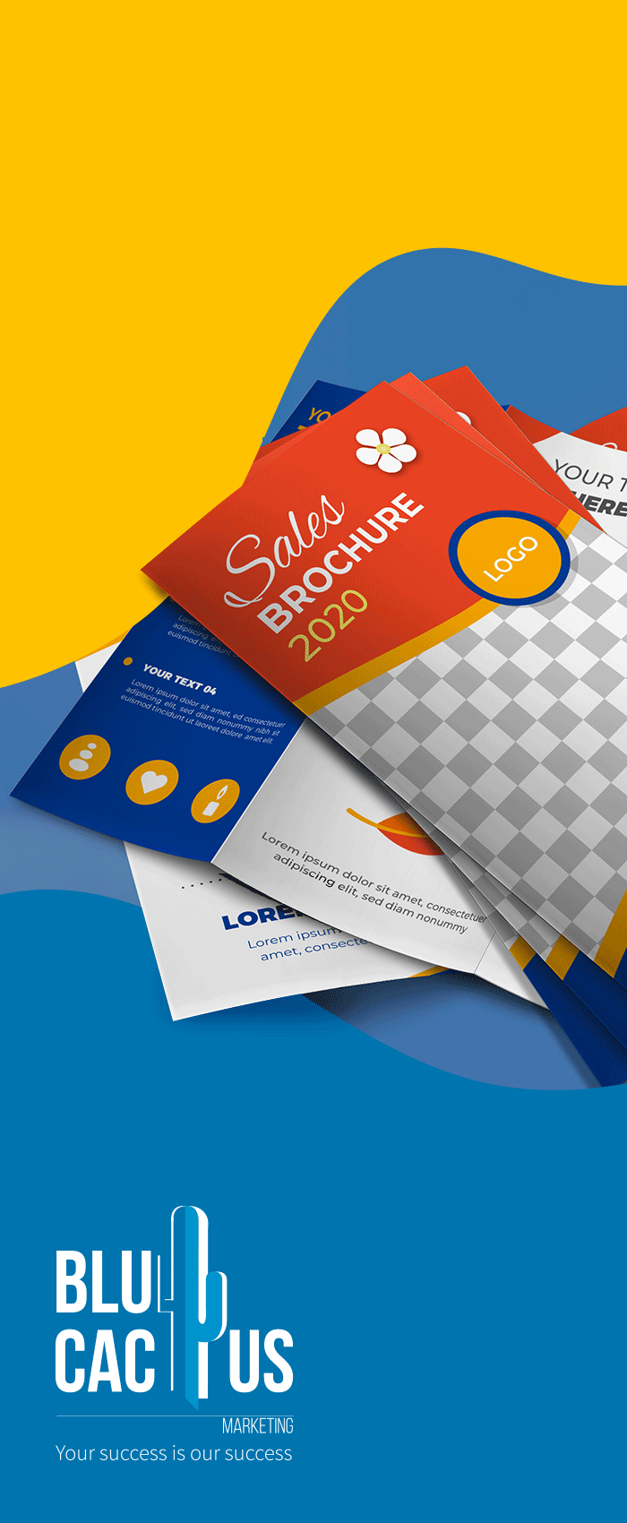 BluCactus The most popular Brochure Design format is the Trifold