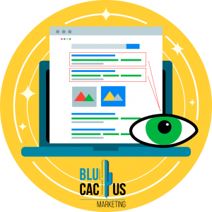 BluCactus - site of google with a yellow background
