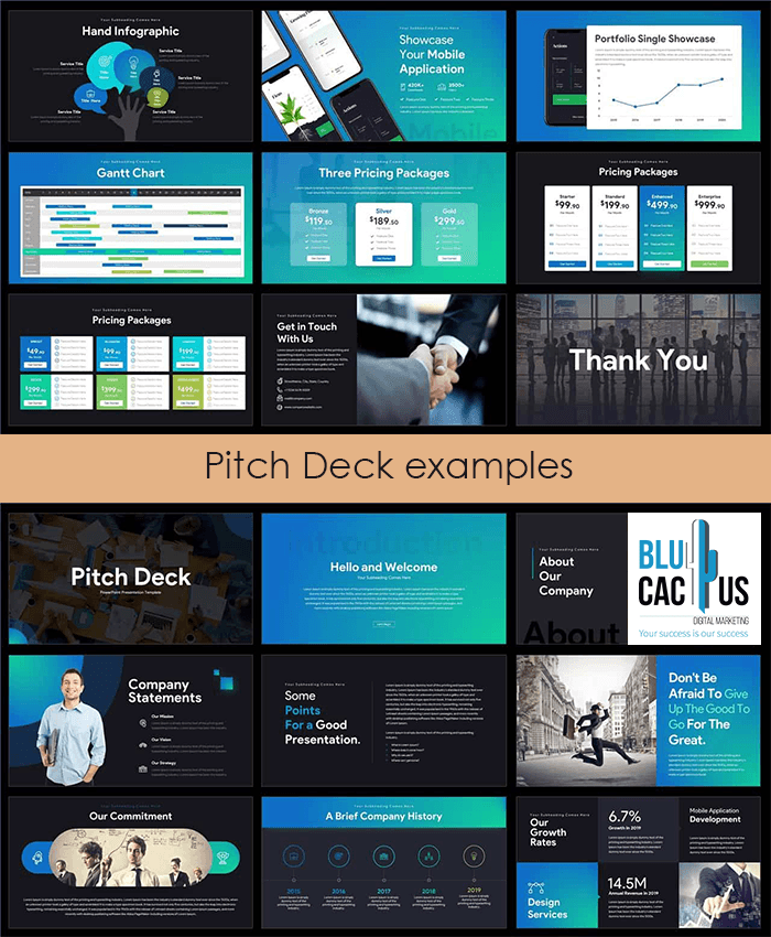 BluCactus - Presentation Design Company - Professional Pitch Deck Design