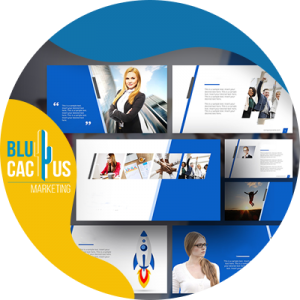 BluCactus - What is a pitch deck - presentations in power point with blue color