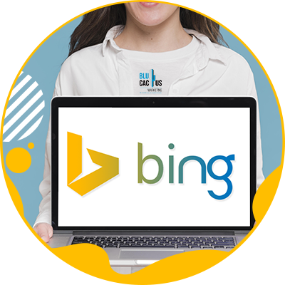BluCactus - The History of SEO - computer with the bing logo on its screen