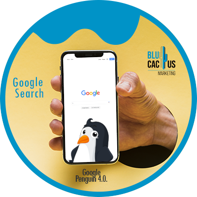 BluCactus - The History of SEO - cellphone with data and information