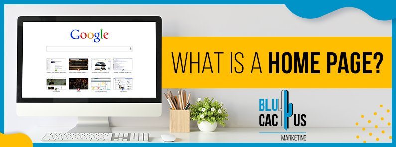 BluCactus - What is a home page - title