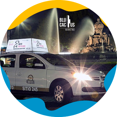 BluCactus - OOH advertising - taxis