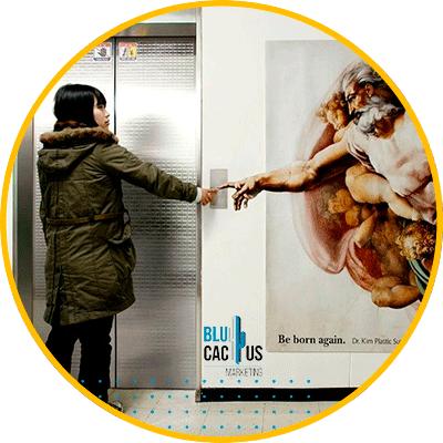 BluCactus - OOH advertising - elevators
