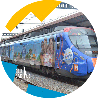 BluCactus - OOH advertising - trains