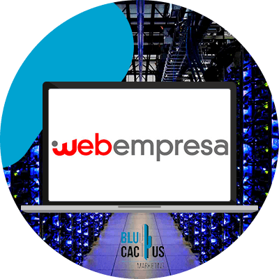 BluCactus - web hosting - computer with important information on it
